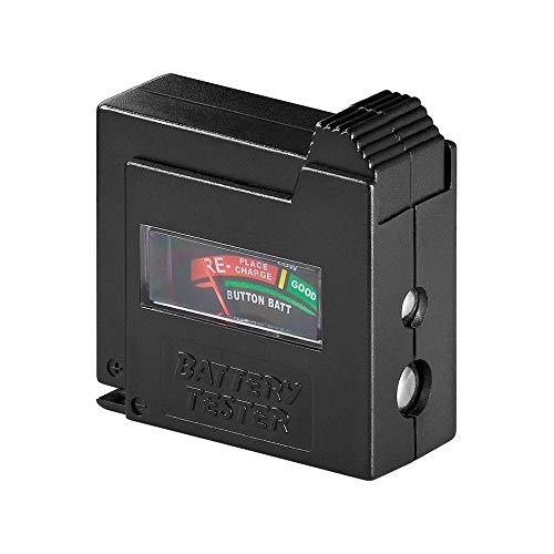 Goobay 54020 Batterietester für AAA, AA, C, D, 9 V, N- und Knopfz