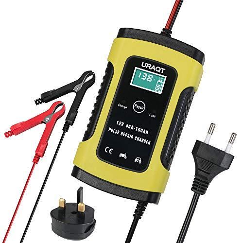 Batterie Ladegerät Auto, 6A 12V Batterieladegerät Auto Erhaltungsladegerät mit Mehrfachschutz für Autobatterie, Motorrad, Rasenmäher oder Boo