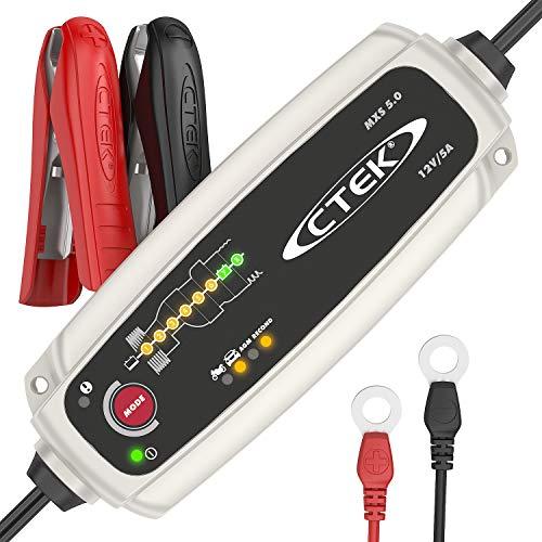 CTEK MXS 5.0 Batterieladegerät Mit Automatischer Temperaturkompensation, 12V 5.0 Amp (EU Stecker)