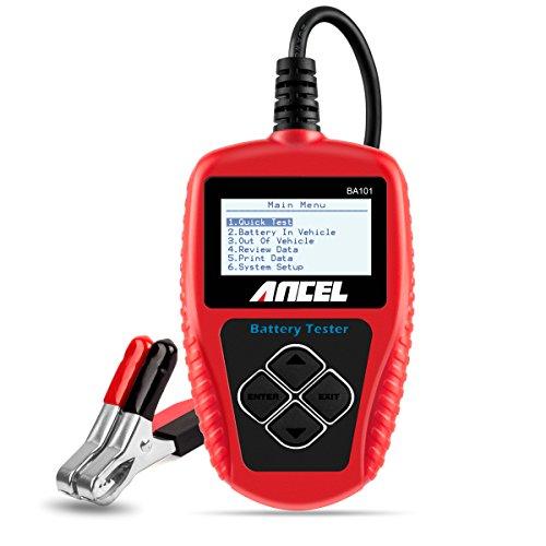 ANCEL BA101 Batterietester Professional 12V 100-2000 CCA 220AH Automotive Batterie Belastungstest Testgerät Digital Analyzer Batteriezustand Test-Tool für Auto/Boot/Motorrad und Mehr