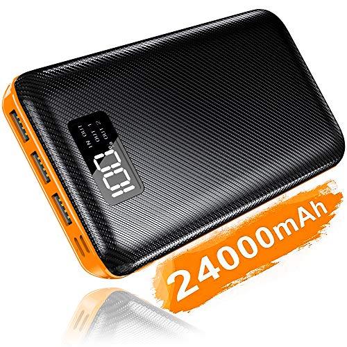 KEDRON Powerbank 24000mAh Externer Akku mit USB C&Micro 2 Eingänge und 3 Ausgänge Power Bank Handy für Smartphones, Tab